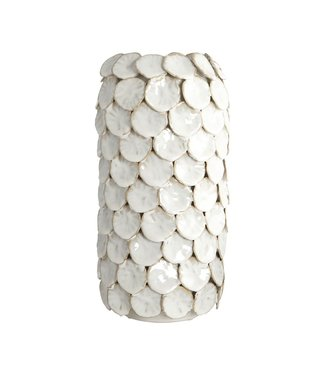 House Doctor Vase, Dot, weiss, dia. 15 cm