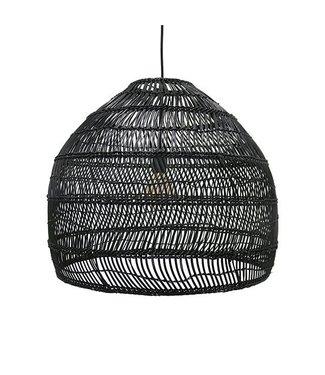 HKliving Lampe Wicker Ball Schwarz - Medium