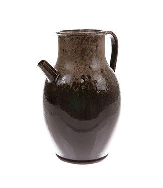 HKliving Keramik Vase Jug Brown Large