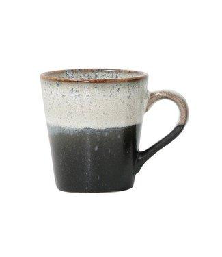 HKliving Keramiktasse 70ern Espresso Rock