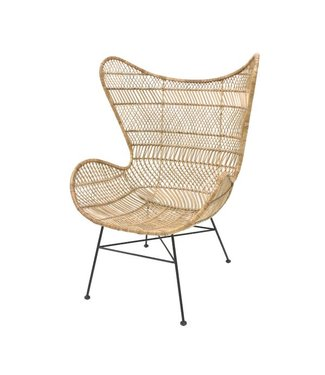 HKliving Rattan Egg Chair Natur Bohemian