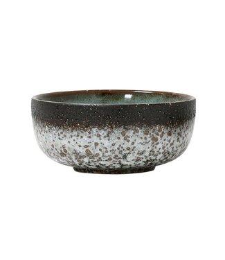 HKliving Keramik 70ern Schüssel Mud Medium