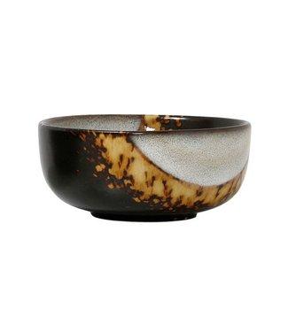 HKliving Keramik 70ern Schüssel Flame Medium