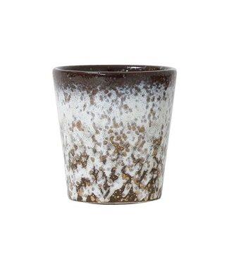 HKliving Keramik 70ern Tasse Mud