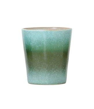 HKliving Keramik 70ern Tasse Grass