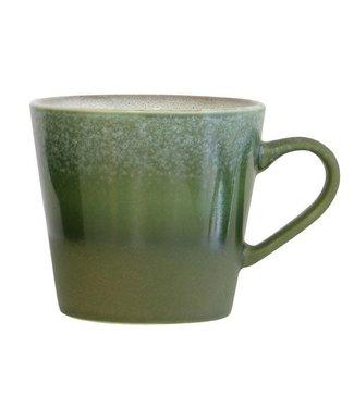 HKliving Keramiktasse Cappucino 70ern Gras