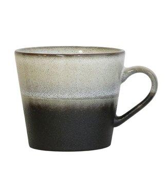 HKliving Keramiktasse Cappucino 70ern Rock