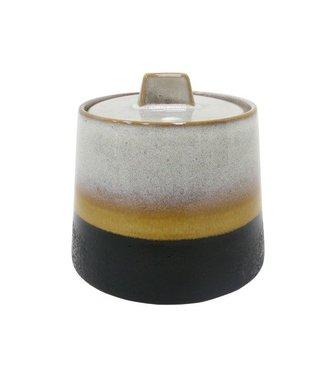 HKliving Keramik 70ern Zuckerdose