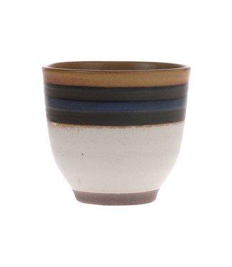 HKliving Kyoto Ceramics: Blau gestreifte Tasse