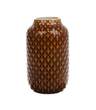HKliving Keramik Vase Brown Glazed