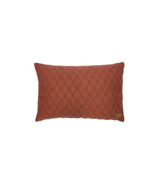 BePureHome Quilt Diamond cushion 40x60 cm kastanienbraun Mohair