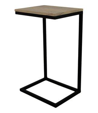 Laptoptisch Holz Iron Legs 38x30x65 cm