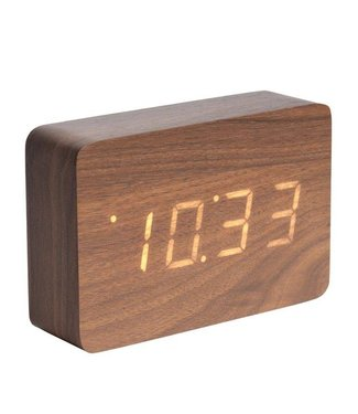 Karlsson Wecker Uhr Wood Square