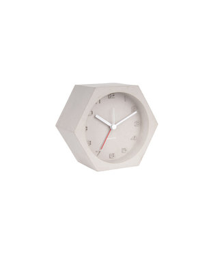 Karlsson Alarm clock Hexagon Concrete Light