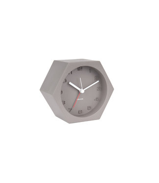 Karlsson Alarm clock Hexagon Concrete Dark