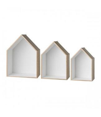 Bloomingville Display Houses Regal Set von 3