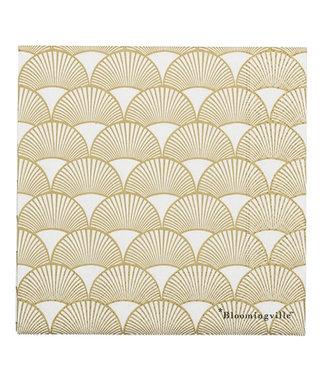 Bloomingville Servietten Gold Muster