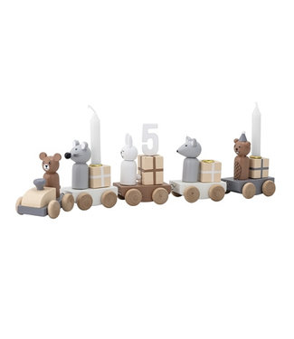 Bloomingville Birthday Train, Multi-color, MDF