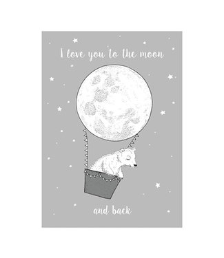 Bloomingville Poster 'I Love You To The Moon And Back'