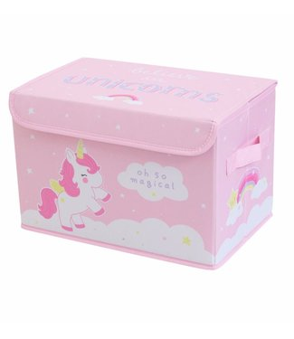 A Little Lovely Company Pop-up storage box: Unicorn