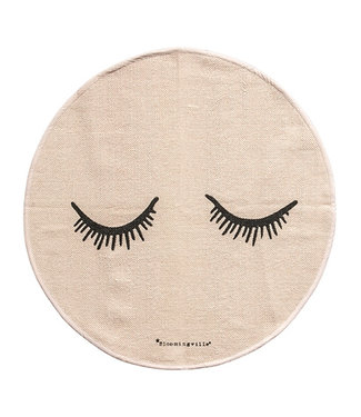 Bloomingville Teppich Rosa Augen