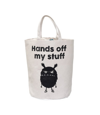 Bloomingville Stoff-Aufbewahrungstasche 'Hands Off My Stuff'