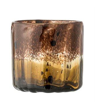 Bloomingville Teelicht Dunkelbraun Glas