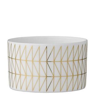 Bloomingville Teelicht Geometrie Porzellan