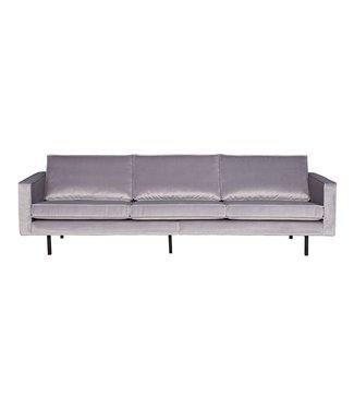BePureHome Rodeo Velvet Sofa 3-Sitz Hellgrau