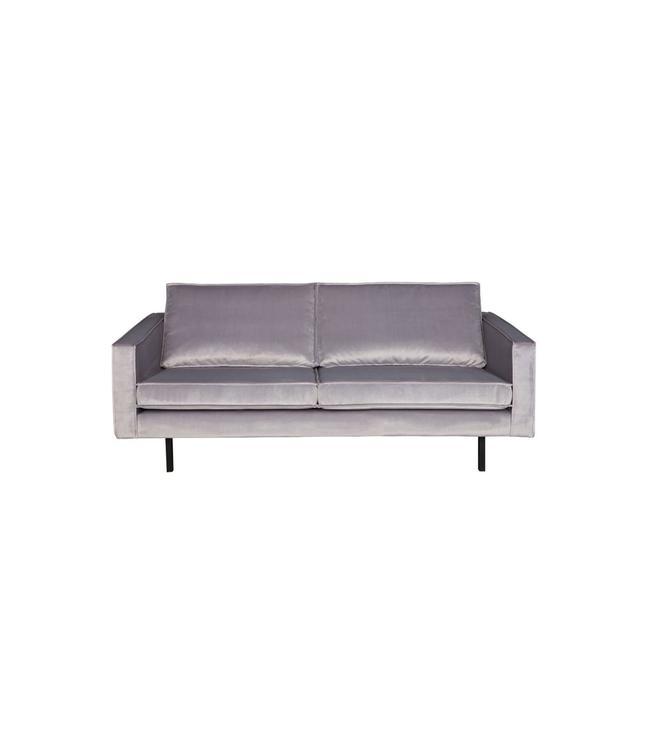 BePureHome Rodeo Velvet Sofa 2,5-Sitz Hellgrau