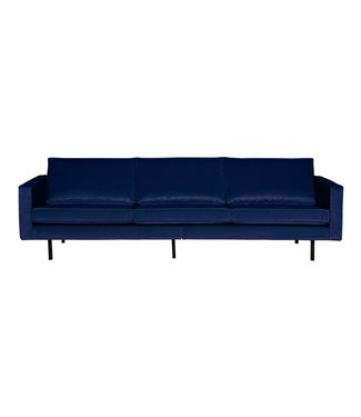 BePureHome Rodeo Velvet Sofa 3-Sitz Dunkelblau