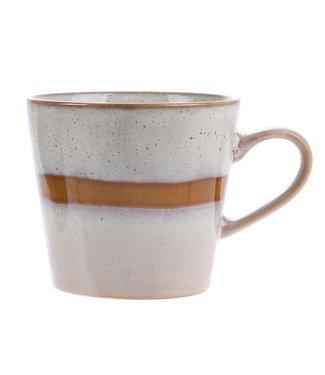 HKliving Tasse Cappuccino Snow Keramik 70ern