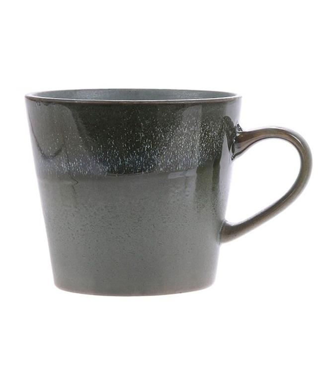 HKliving Tasse Cappuccino Moss Keramik 70ern
