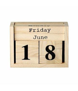 Bloomingville Kalender - Holz