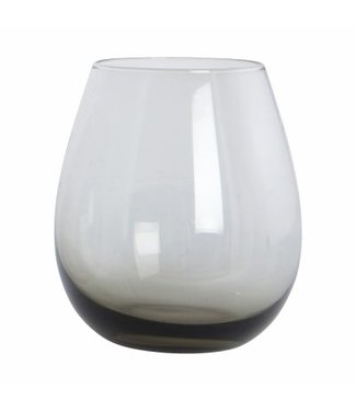 House Doctor Wasserglas Ball smoked grau