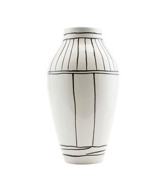 House Doctor Vase Outline weiß