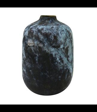 HKliving Eroded brass Vase