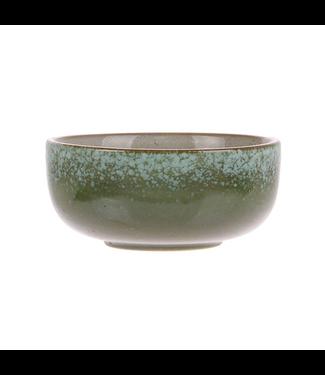 HKliving Keramik 70ern Schüssel Grass Medium