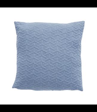 Hübsch Kissen m Muster, blau
