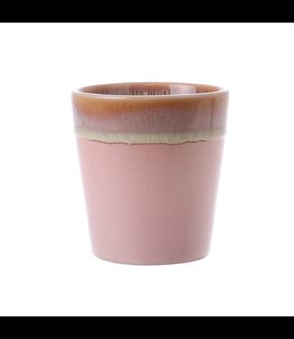 HKliving Tasse Rosa Keramik 70ern