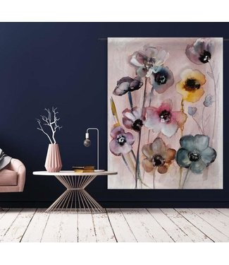 Urban Cotton Wandteppich Flowers in Soft Hues L 190x145cm