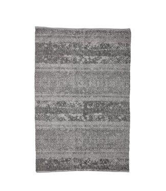 Bloomingville Teppich Grau Baumwolle