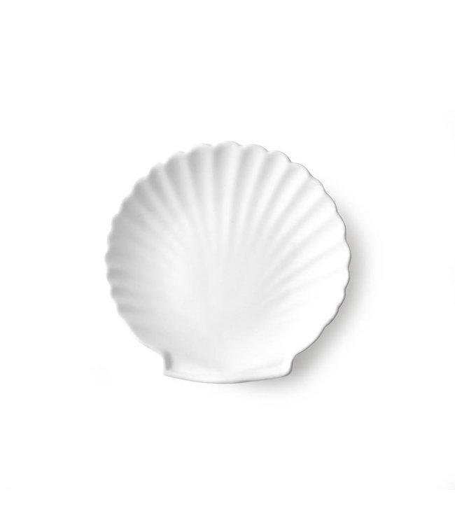 HKliving Athena ceramics: Schale Shell weiß matt m