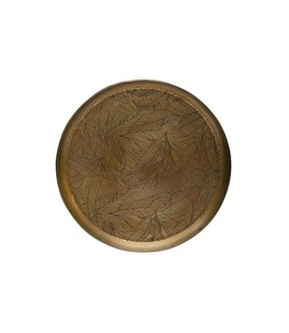 BePureHome Notch tablett metall antique brass ø31cm