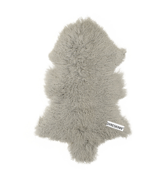 Dyreskinn Schafsfell Tibetan Grau 90-110cm
