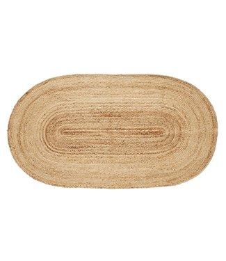 Hübsch Fußmatte, Jute, natur, oval