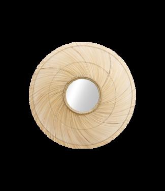 Spiegel Bambus Rund 120cm