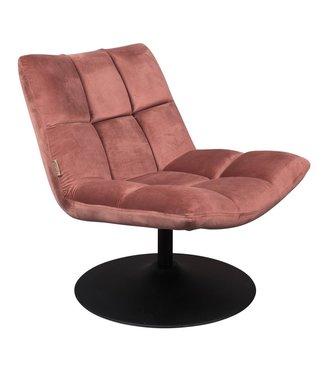 Dutchbone Lounge Chair Bar Samt Rosa