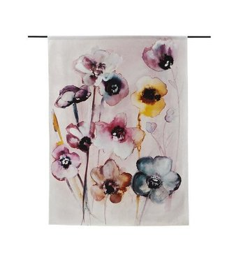 Urban Cotton Wandteppich Flowers in Soft Hues S 110x80 cm