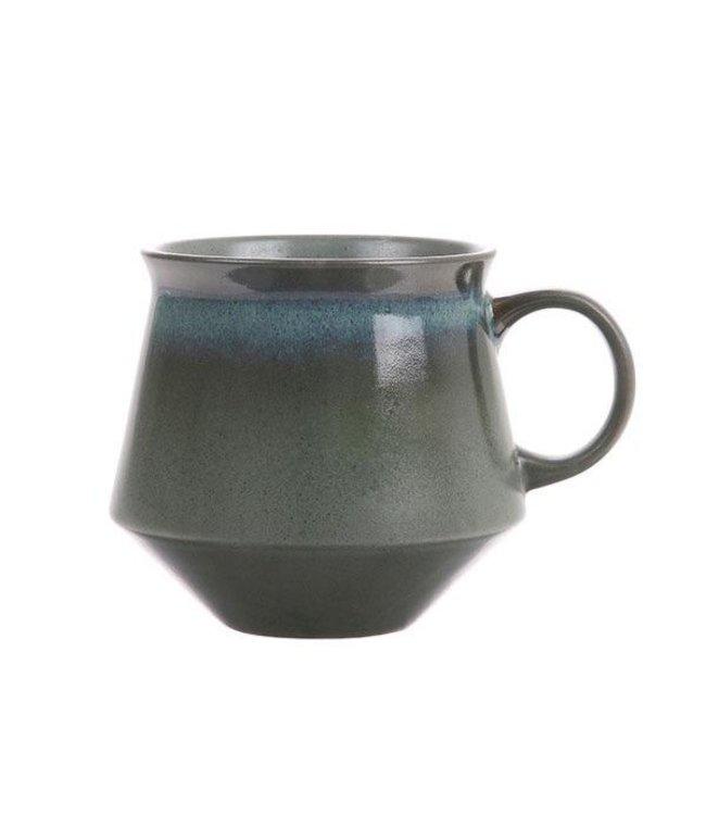 HKliving Keramik 70ern Teebecher XL: Moss